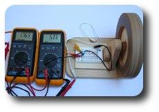 Wooden Generator Versuchsaufbau Exeperiment 2