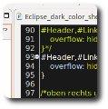 Eclipse Programmierumgebung Zwischenschritt mit Mix aus Dunkel und Standardfarben
