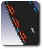 Scheibengenerator - Saegeblatt_mit_Magneten_und_Spulen